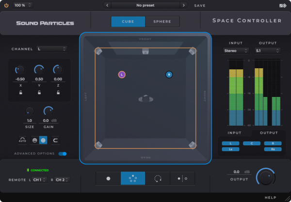 Sound Particles Space Controller Standard Mobile Panner Screenshot 2