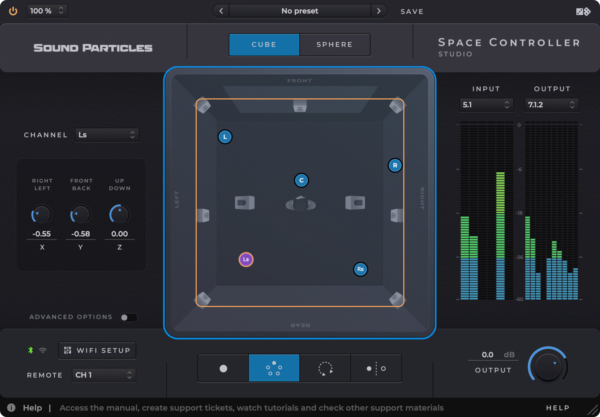 Sound Particles Space Controller Standard Screenshot