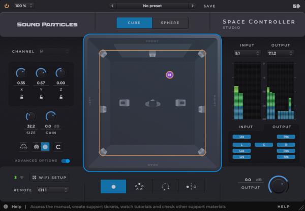 Sound Particles Space Controller Studio Advanced