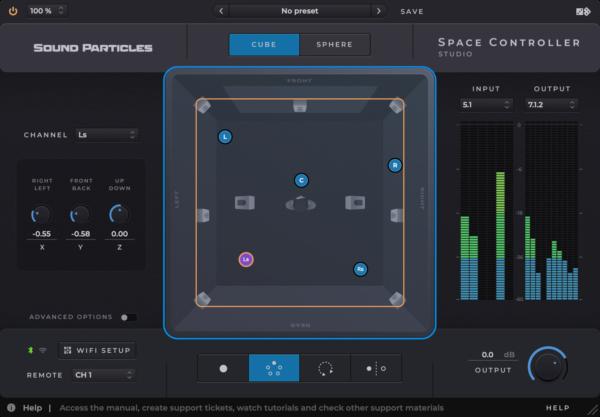 Sound Particles Space Controller Studio Screenshot