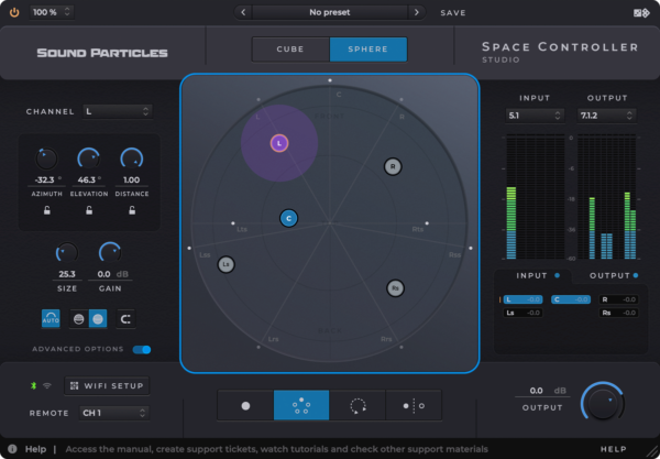Sound Particles Space Controller Studio Sphere